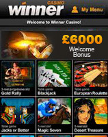 winner casino mobile games offers
